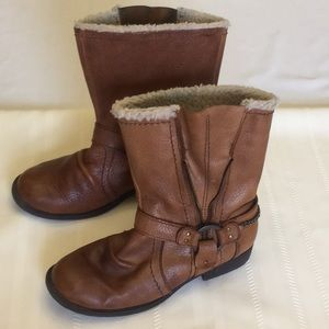 Steve Madden Brown Leather Boots w/Chain